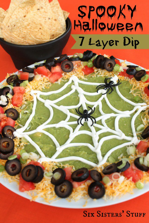 halloween 7 layer dip