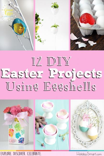12 DIY Easter Projects Using Eggshells