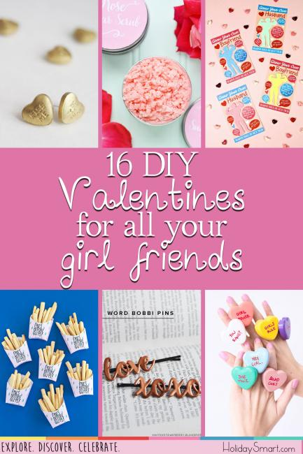 16 DIY Valentines for all your girl friends