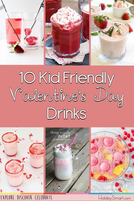 10 Kid Friendly Valentine's Day Drinks