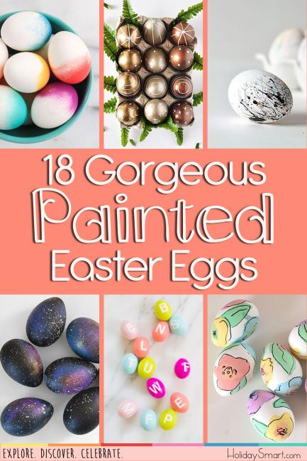 18 Gorgeous Painted Easter Eggs