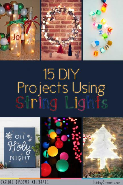 15 DIY Projects Using String Lights