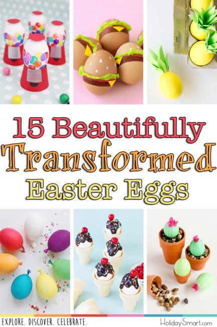 15 Beautifully Transformed Easter Eggs