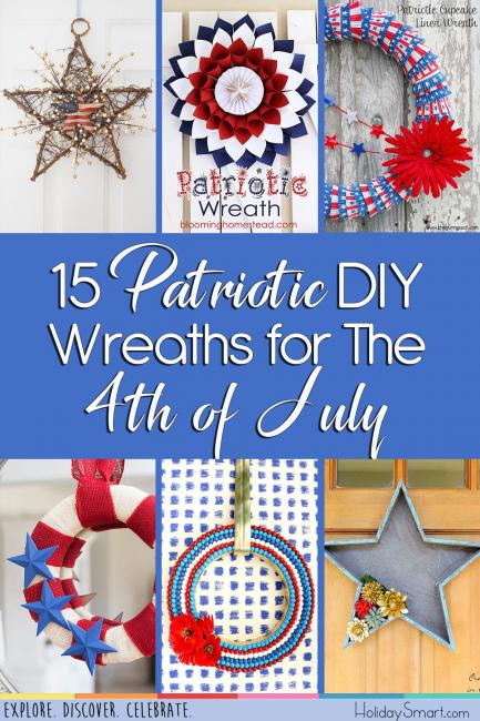 15 Patriotic DIY Wreaths for The 4th of July