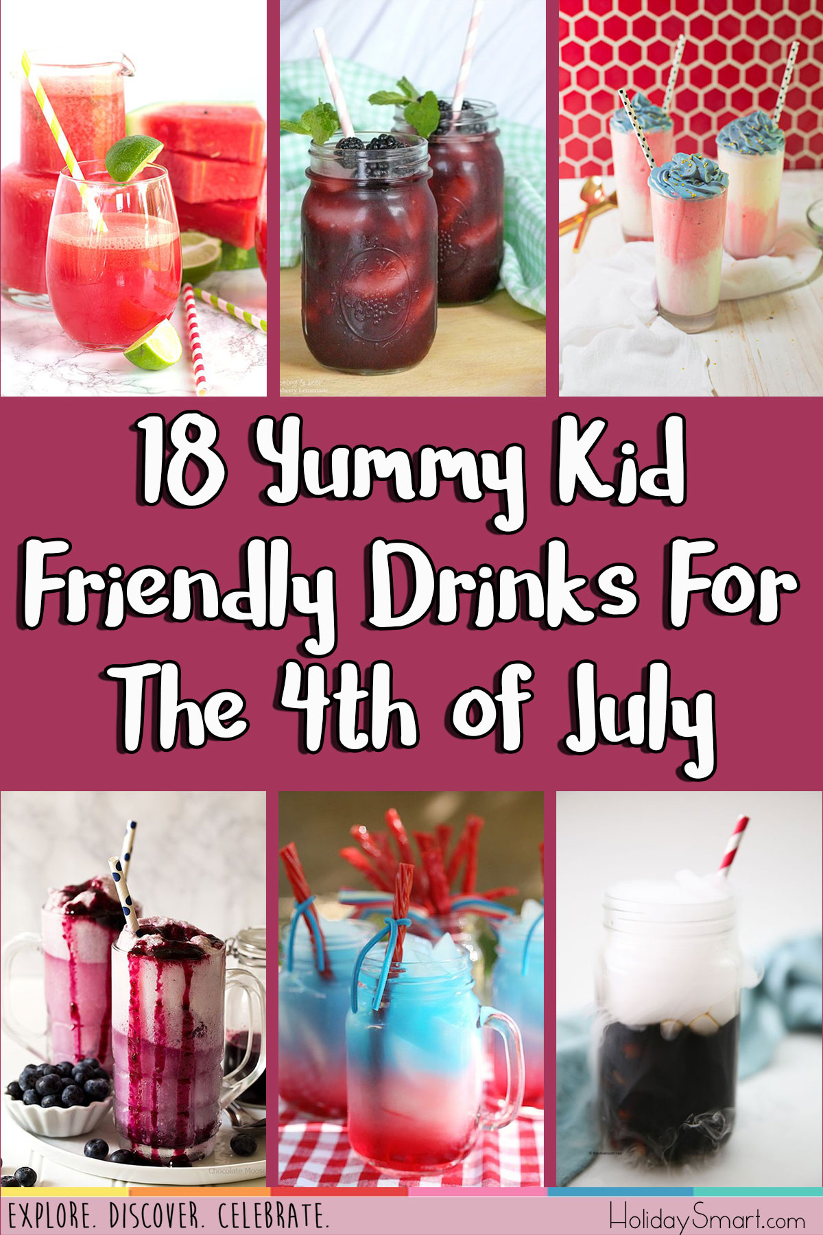 18 Yummy Kid Friendly Drinks For The 4th of July