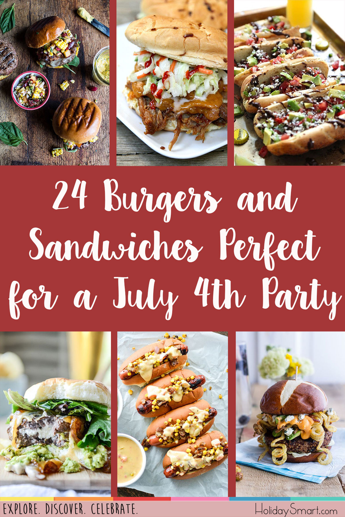 24 Burgers and Sandwiches Perfect for a July 4th Party