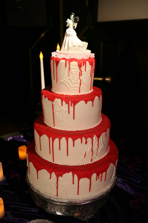 Dripping blood cake
