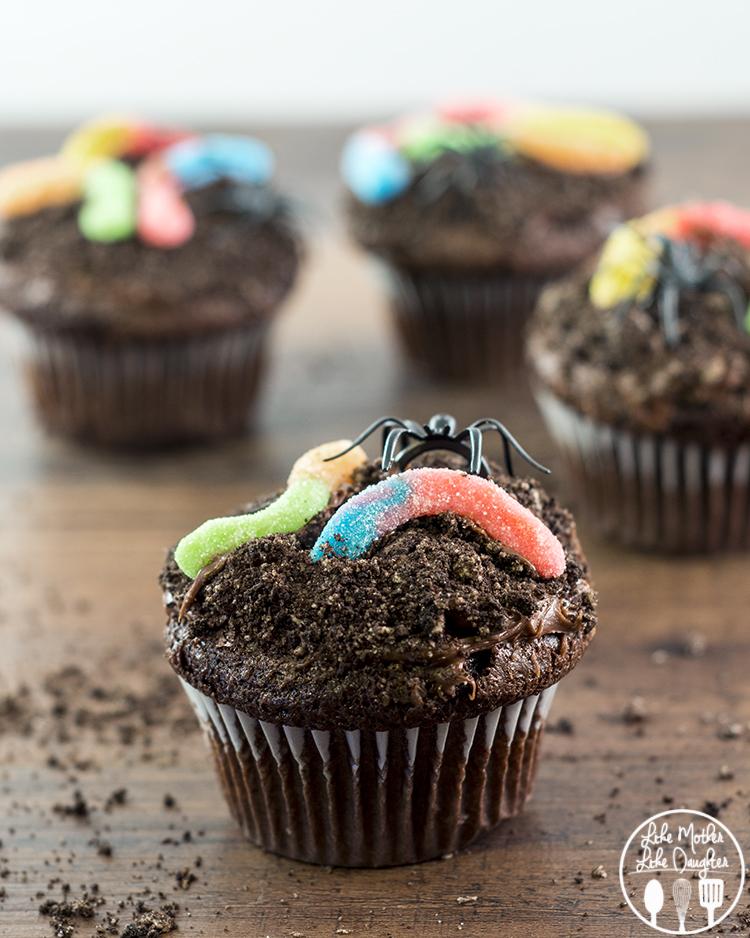 Cupcake Cakes Worms