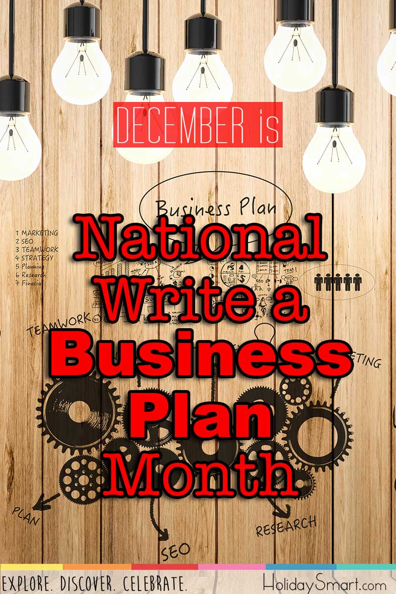 National Write a Business Plan Month