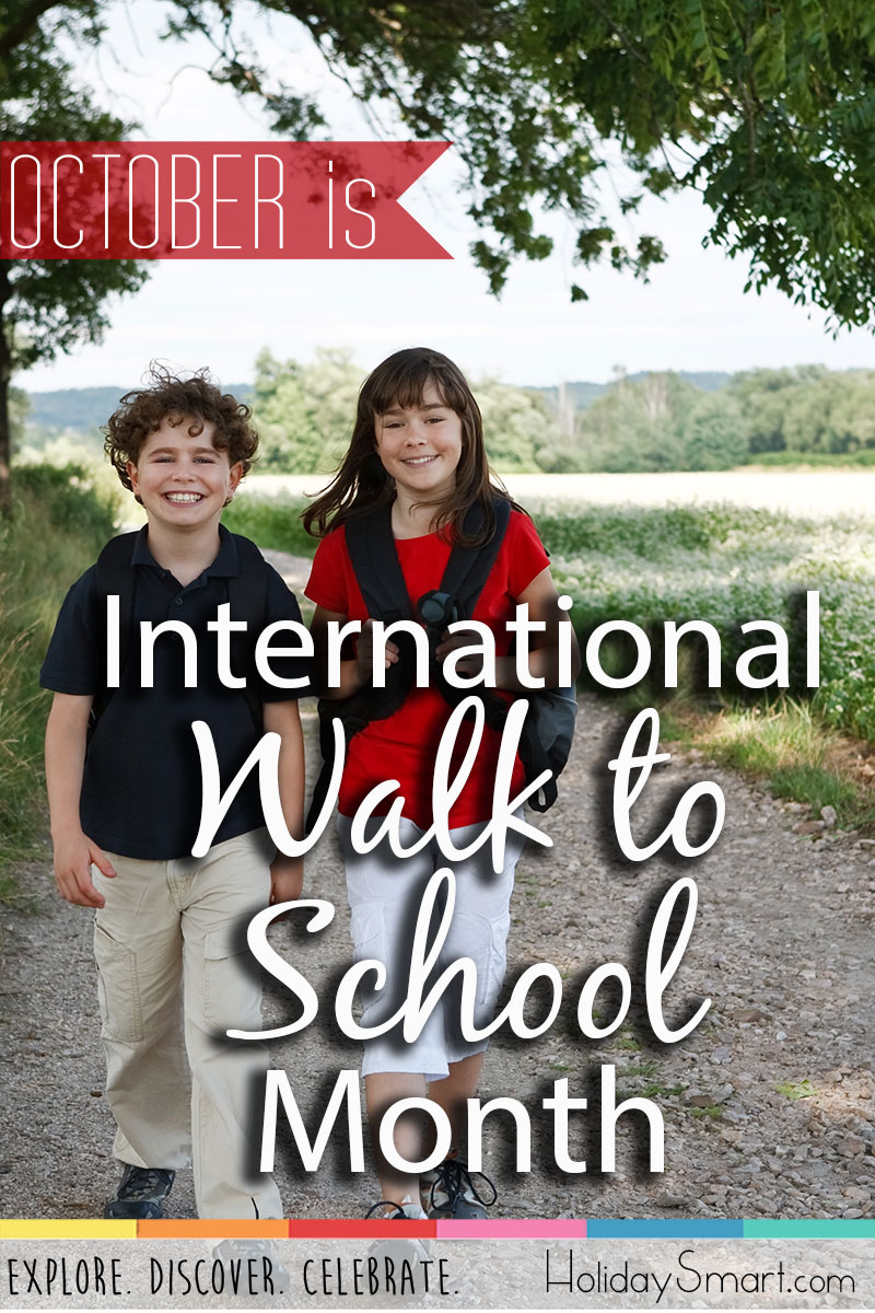 October is International Walk to School Month