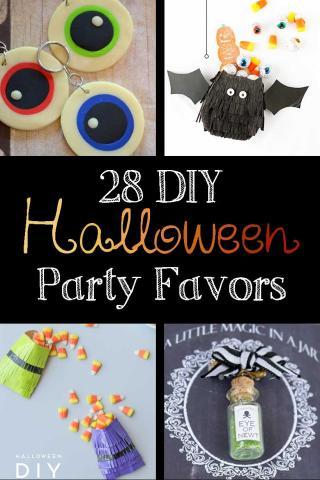 28 diy halloween party favors - Diy Halloween Favors