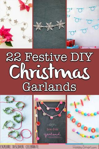 22 Festive DIY Christmas Garlands