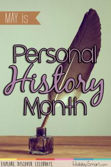 May is Personal History Month