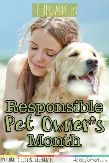 February is Responsible Pet Owner's Month