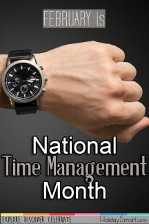February is National Time Management Month
