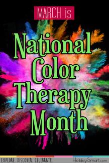 March is National Color Therapy Month