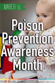 March is Poison Prevention Awareness Month