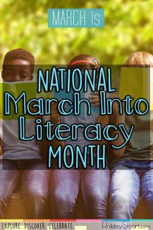 March is National March Into Literacy Month