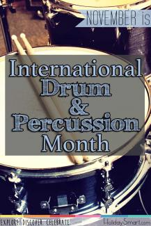 November is International Drum / Percussion Month