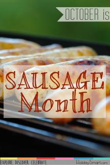October is Sausage Month