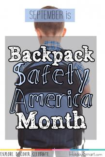 September is Backpack Safety America Month!