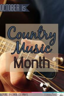 October is Country Music Month