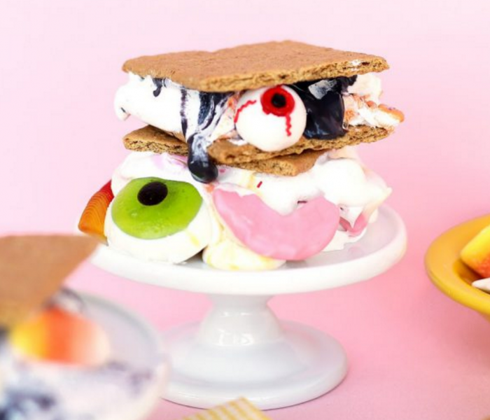 Halloween S'mores with Candy