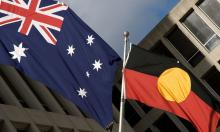 Australian and Aboriginal flags side by side